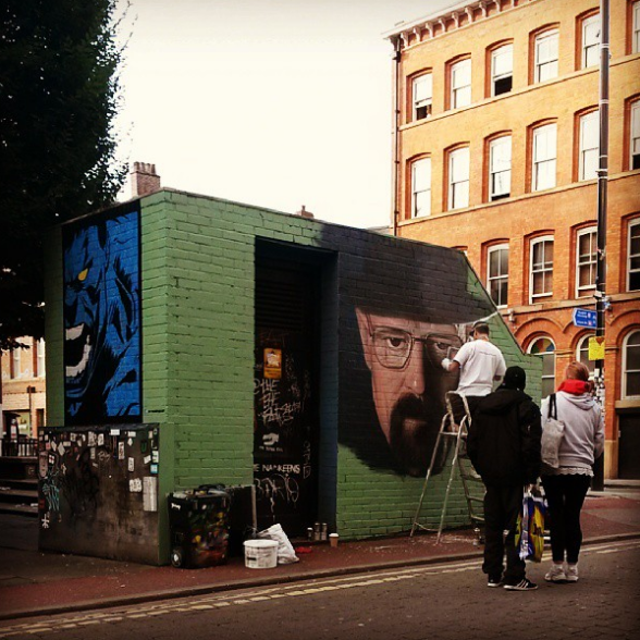 Akse complete his Heisenberg piece instagram.com/outhousemcr